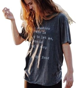 Brandy Melville T Shirt Gray Distressed Look