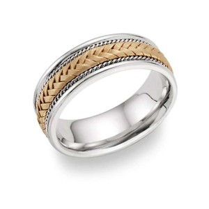 Apples of Gold Braided - 14k Two-tone Women's Wedding Band