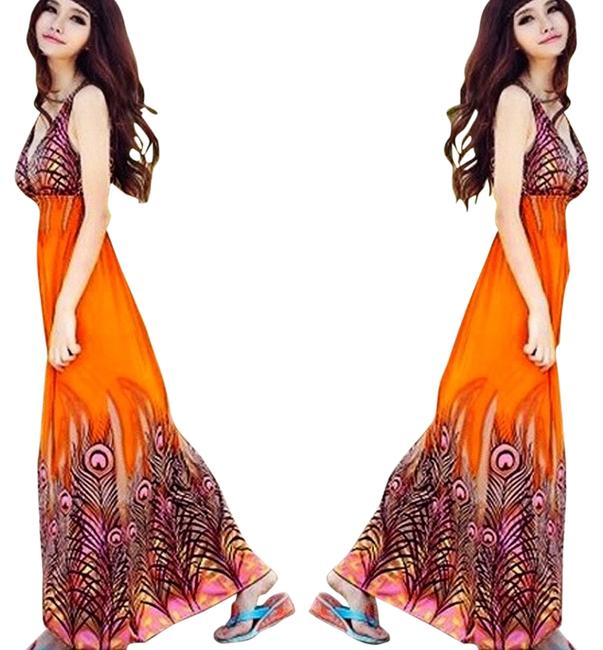 Preload https://item1.tradesy.com/images/orange-peacock-casual-maxi-dress-size-os-one-size-3687430-0-0.jpg?width=400&height=650