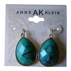Anne Klein .Anne Klein Turquoise Color dangle earrings. New with card.