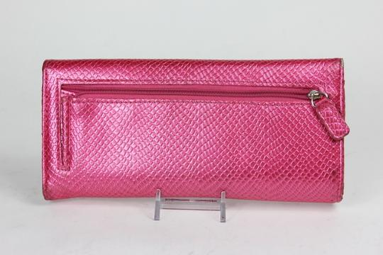 Kenneth Cole Reaction Pebbled Metallic Pink Clutch