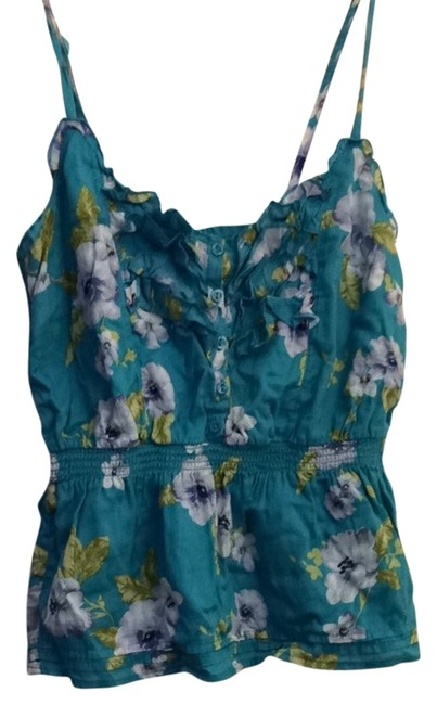 Forever 21 Top Turquoise Floral