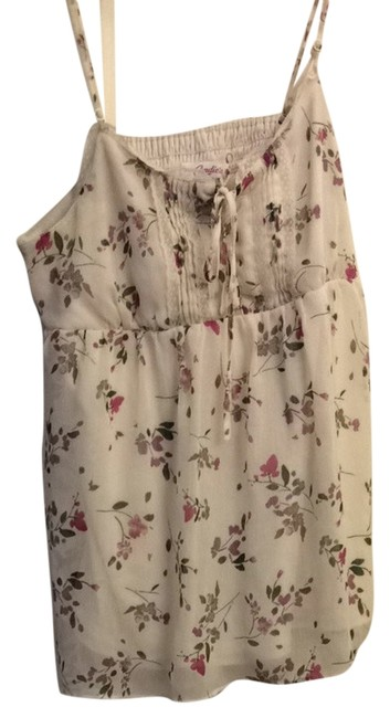 Candie's Top White Floral