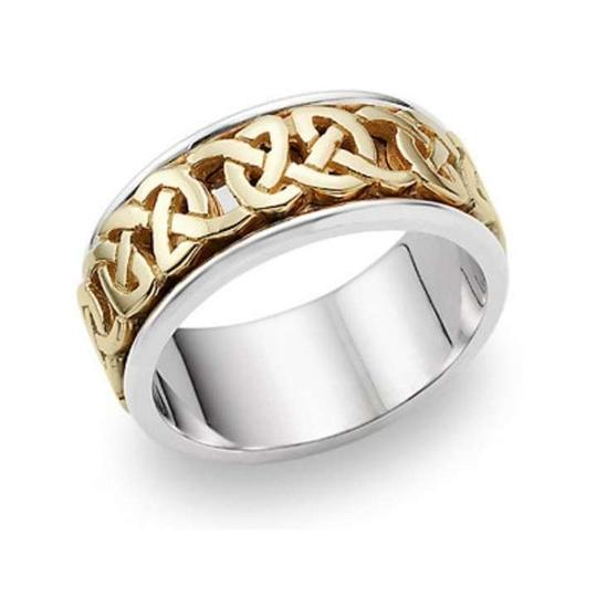 Preload https://item1.tradesy.com/images/apples-of-gold-caedmon-celtic-14k-two-tone-men-s-wedding-band-368770-0-0.jpg?width=440&height=440