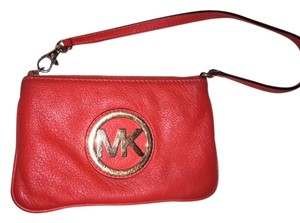 Michael Kors Mk Designer Wristlet in Orange