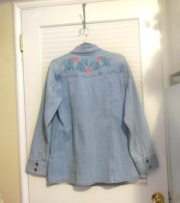 Denim & Co. Womens Jean Jacket