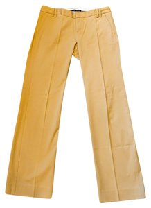 Gap Slim Cut Cotton Blend Straight Pants Khaki