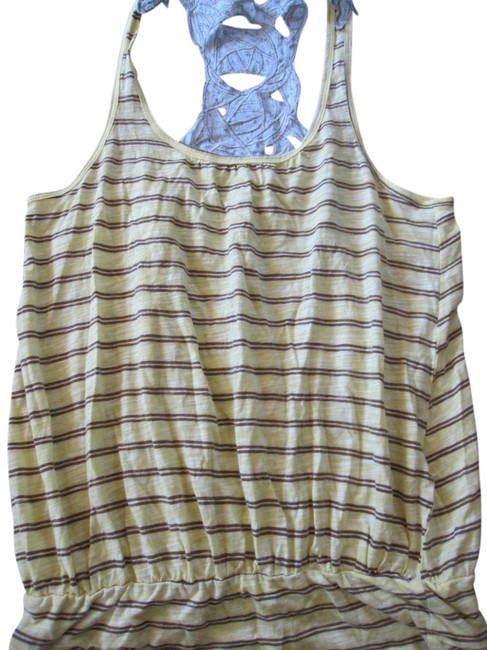 Free People Top yellow brown