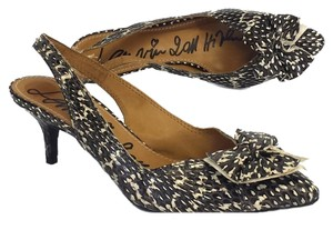 Lanvin Bow Toe Python Slingbacks Sandals