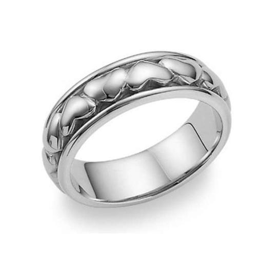 Preload https://item5.tradesy.com/images/apples-of-gold-silver-eternal-heart-ring-in-14k-white-women-s-wedding-band-368909-0-0.jpg?width=440&height=440