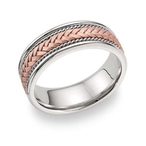 Apples Of Gold 14k Rose Gold Braided Wedding Band Ring