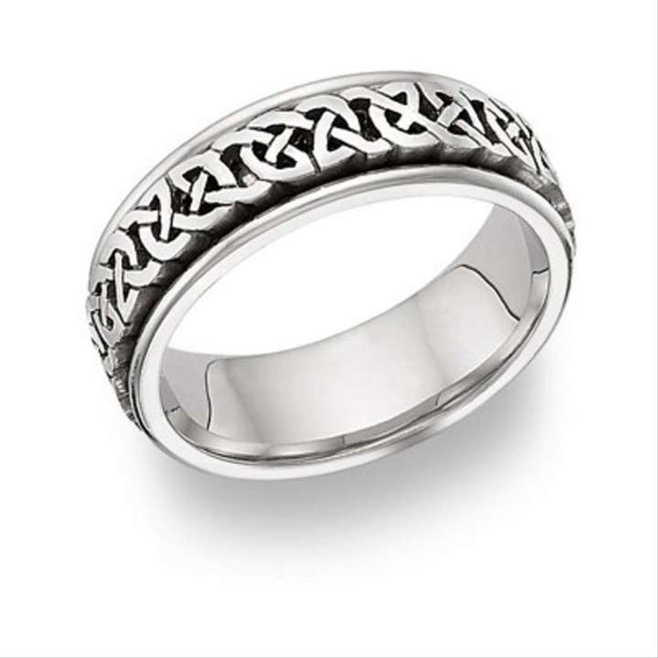Celtic Knot Wedding Bands.Apples Of Gold Silver Caer Celtic Knot Ring 14k White Men S Wedding Band 47 Off Retail