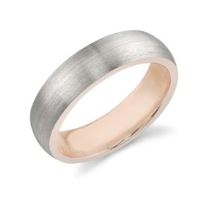 Apples Of Gold 14k White Gold & Rose Gold Wedding Band