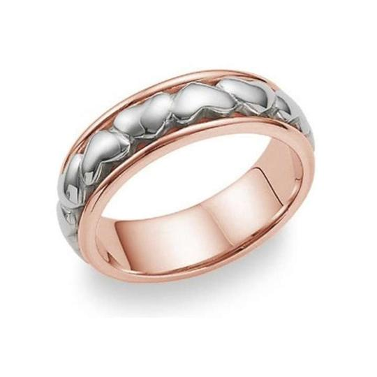 Preload https://img-static.tradesy.com/item/368950/apples-of-gold-eternal-heart-ring-14k-rose-and-white-women-s-wedding-band-0-0-540-540.jpg