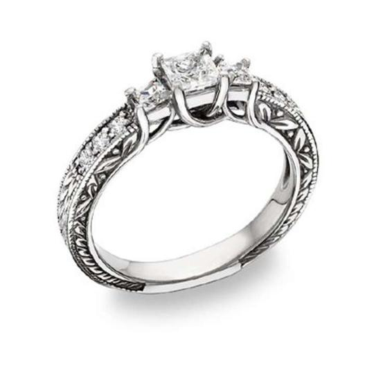 Preload https://item1.tradesy.com/images/apples-of-gold-white-1-carat-three-stone-princess-cut-engagement-ring-368965-0-0.jpg?width=440&height=440