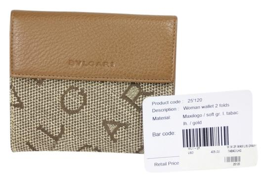 BVLGARI * BVLGARI Maxilogo Canvas Wallet - Brown