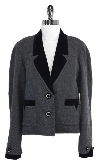 Preload https://item5.tradesy.com/images/chanel-fall-13-grey-and-black-cashmere-wvelvet-details-size-8-m-3690229-0-0.jpg?width=400&height=650