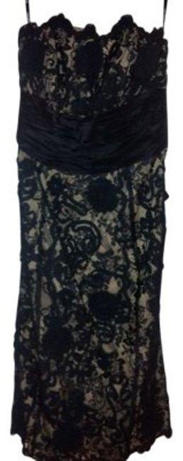 Preload https://item3.tradesy.com/images/betsey-johnson-black-lace-with-nude-lining-mid-length-cocktail-dress-size-4-s-36907-0-0.jpg?width=400&height=650