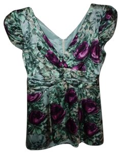 Nanette Lepore Top Purple and greens