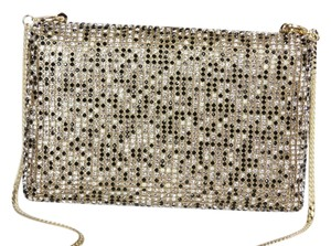 Vince Camuto Box Crystal Gold Hardware Multi Clutch