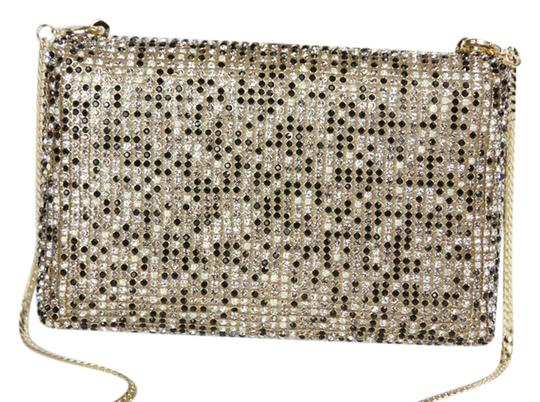 Vince Camuto Crystal Gold Hardware Multi Clutch