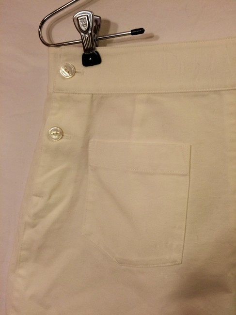 Ralph Lauren Cotton High-waisted Cuffed Shorts White Image 1