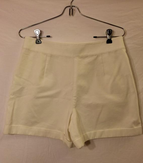 Ralph Lauren Cotton High-waisted Cuffed Shorts White Image 2