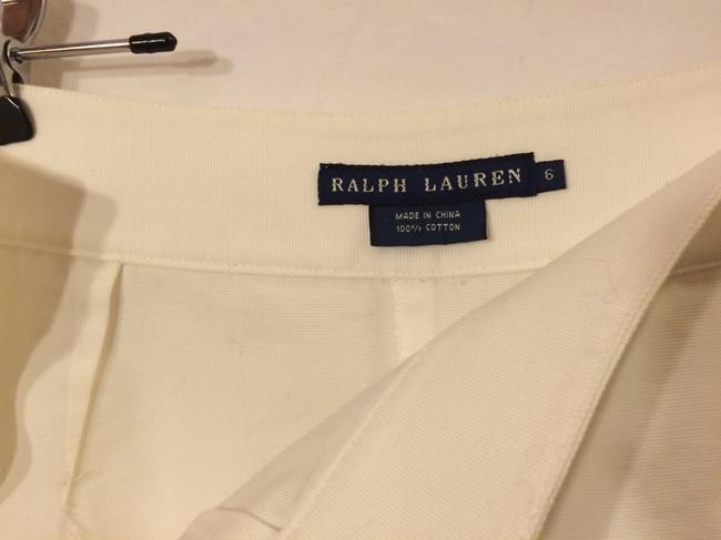 Ralph Lauren Cotton High-waisted Cuffed Shorts White Image 3