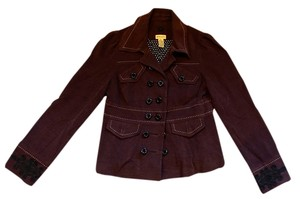 Elevenses Anthropologie Military Embellishment Brown and Black Jacket
