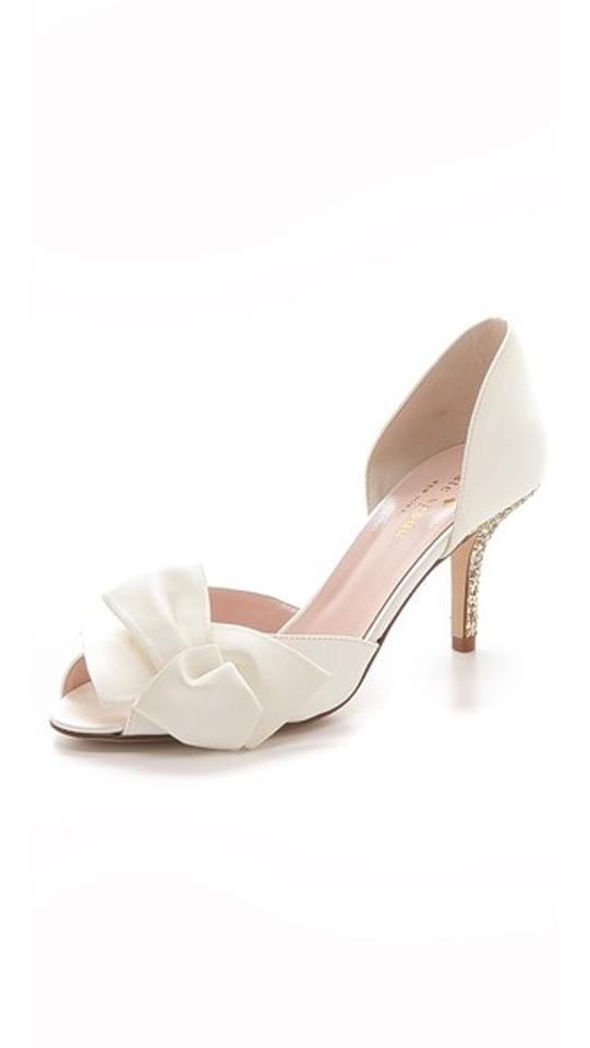 Spade Kate Gold Pumps Formal White FqpwRxwAz