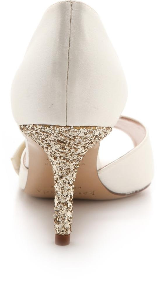 Pumps White Spade Gold Formal Kate PTBqUwI