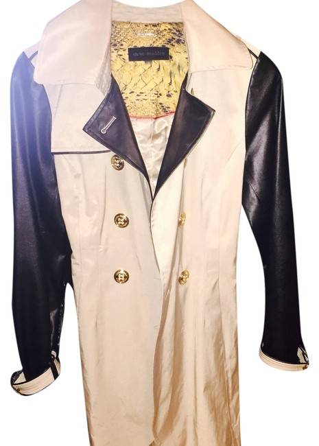 Preload https://item4.tradesy.com/images/steve-madden-khaki-with-leather-sleeves-and-gold-hardware-size-4-s-3691483-0-0.jpg?width=400&height=650