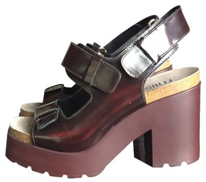 Miista Burgundy Platforms