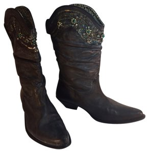 Roberto Cavalli Slouch Black Boots