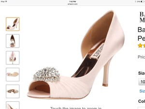 Badgley Mischka New In Box Wedding Shoes
