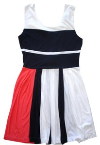 French Connection short dress white/navy/coral Medina on Tradesy