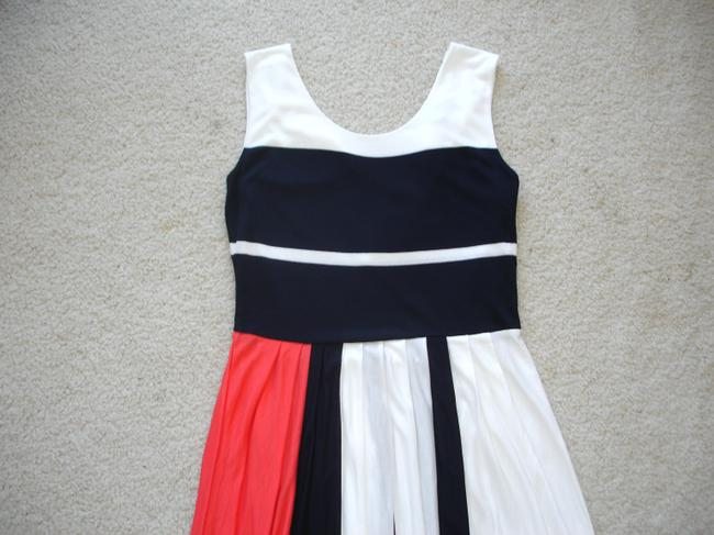 French Connection short dress white/navy/coral Medina Striped Orange Short Pleated Jersey Summer on Tradesy Image 6