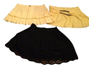Urban Outfitters Skirt Black Yellow