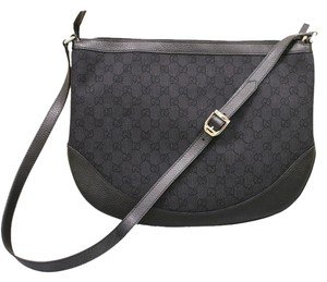 Gucci Canvas Crossbody Handbag Large Womens Black Tradesy Pennylane Penny Lane Messenger Bag