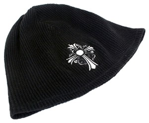 Chrome Hearts Chrome Hearts Signature Knit Monogram Skully Beanie