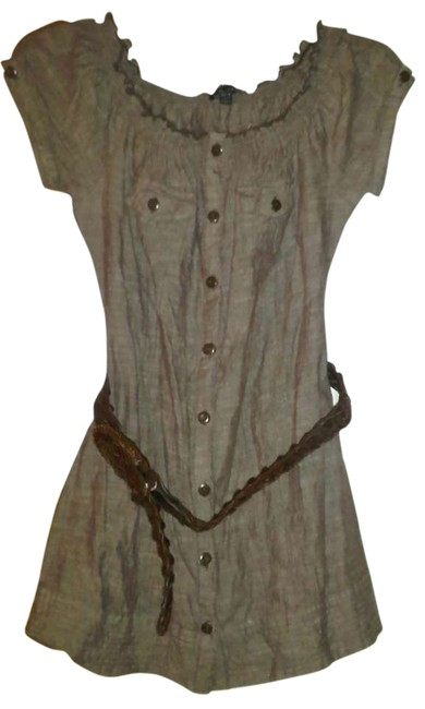 Fang Belted Top Brown