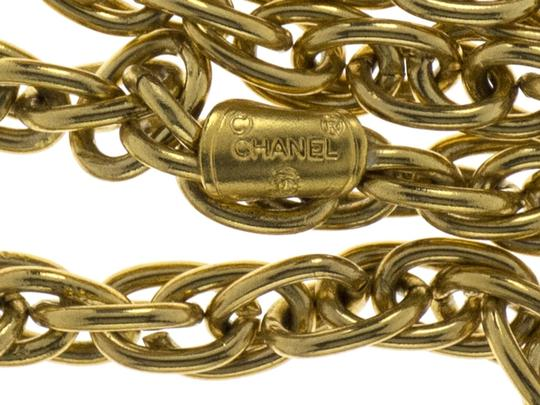 Chanel Chanel Double Strand Crystal Coin Pendant Necklace