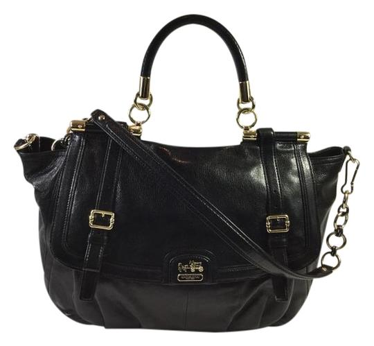 Preload https://item3.tradesy.com/images/coach-pinnacle-abby-glazed-black-leather-shoulder-bag-3692542-0-3.jpg?width=440&height=440