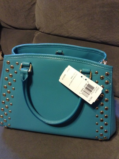 Coach Leather Studded New Cross Body Bag