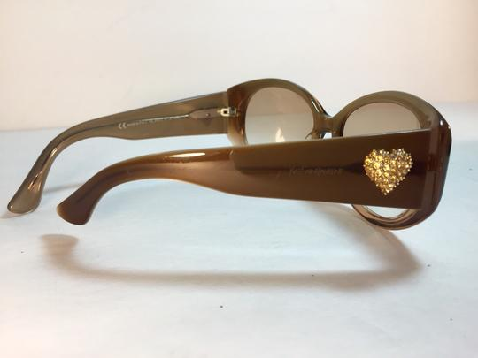 Saint Laurent Yves Saint Laurent Rhinestone Heart Sunglasses