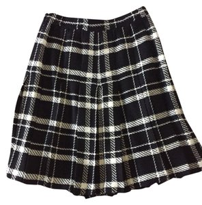 St. John Skirt Black & White Plaid