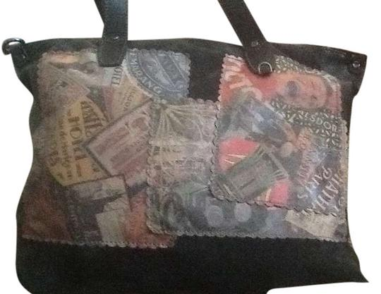 Preload https://img-static.tradesy.com/item/369294/vintage-viajar-collection-black-with-multi-color-graphic-front-leather-tote-0-1-540-540.jpg