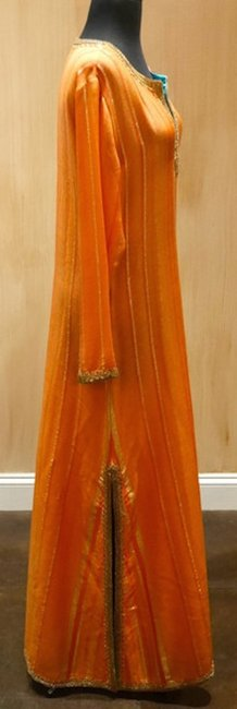 Orange/Gold Maxi Dress by Armand Diradourian Sequined Embellished Image 1