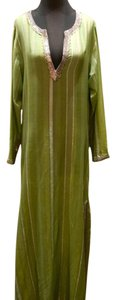 Green/Silver Maxi Dress by Armand Diradourian Embellished Sequins Resort