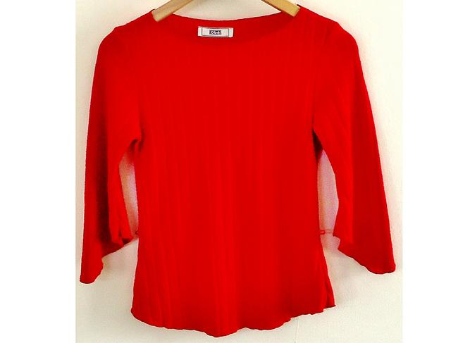 OBEY Stretchy Flared Sleeves Top red Image 2